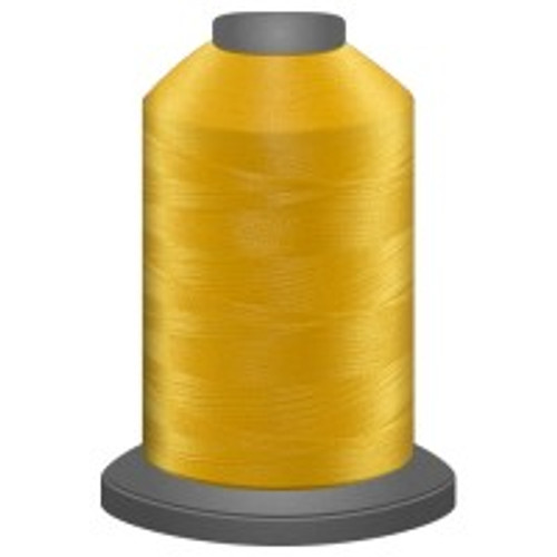 Canary - Polyester - Thread - Trilobal - Glide - 40 wt This thread is strong and maintains consistent tension.  This results in less thread breakage, consistent stitch formation, resulting in fewer machine stops.  Made from colorfast polyester. Complete and uniform fill, provides a beautiful look, as if the thread melts into the fabric. Glide runs virtually lint free through your machine's tensioners and needle. Mini Spool - 40 wt - 1100 yds King Spool - 40 wt - 5500 yds Available in 269 colors.