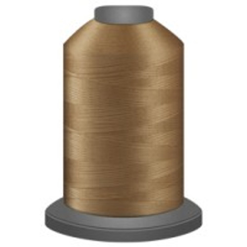 Butterscotch - Polyester - Thread - Trilobal - Glide - 40 wt This thread is strong and maintains consistent tension.  This results in less thread breakage, consistent stitch formation, resulting in fewer machine stops.  Made from colorfast polyester. Complete and uniform fill, provides a beautiful look, as if the thread melts into the fabric. Glide runs virtually lint free through your machine's tensioners and needle. Mini Spool - 40 wt - 1100 yds King Spool - 40 wt - 5500 yds Available in 269 colors.