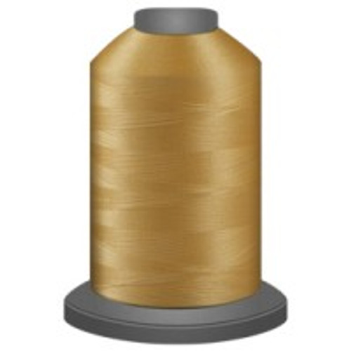 Buttercup - Polyester - Thread - Trilobal - Glide - 40 wt This thread is strong and maintains consistent tension.  This results in less thread breakage, consistent stitch formation, resulting in fewer machine stops.  Made from colorfast polyester. Complete and uniform fill, provides a beautiful look, as if the thread melts into the fabric. Glide runs virtually lint free through your machine's tensioners and needle. Mini Spool - 40 wt - 1100 yds King Spool - 40 wt - 5500 yds Available in 269 colors.
