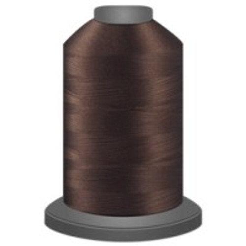 Brunette - Polyester - Thread - Trilobal - Glide - 40 wt This thread is strong and maintains consistent tension.  This results in less thread breakage, consistent stitch formation, resulting in fewer machine stops.  Made from colorfast polyester. Complete and uniform fill, provides a beautiful look, as if the thread melts into the fabric. Glide runs virtually lint free through your machine's tensioners and needle. Mini Spool - 40 wt - 1100 yds King Spool - 40 wt - 5500 yds Available in 269 colors.