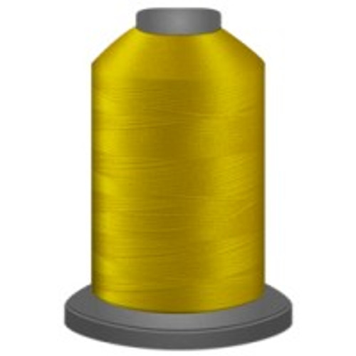 Bright Yellow - Polyester - Thread - Trilobal - Glide - 40 wt This thread is strong and maintains consistent tension.  This results in less thread breakage, consistent stitch formation, resulting in fewer machine stops.  Made from colorfast polyester. Complete and uniform fill, provides a beautiful look, as if the thread melts into the fabric. Glide runs virtually lint free through your machine's tensioners and needle. Mini Spool - 40 wt - 1100 yds King Spool - 40 wt - 5500 yds Available in 269 colors.