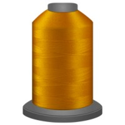 Bright Gold - Polyester - Thread - Trilobal - Glide - 40 wt This thread is strong and maintains consistent tension.  This results in less thread breakage, consistent stitch formation, resulting in fewer machine stops.  Made from colorfast polyester. Complete and uniform fill, provides a beautiful look, as if the thread melts into the fabric. Glide runs virtually lint free through your machine's tensioners and needle. Mini Spool - 40 wt - 1100 yds King Spool - 40 wt - 5500 yds Available in 269 colors.