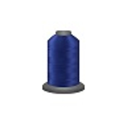 Bright Blue - Polyester - Thread - Trilobal - Glide - 40 wt This thread is strong and maintains consistent tension.  This results in less thread breakage, consistent stitch formation, resulting in fewer machine stops.  Made from colorfast polyester. Complete and uniform fill, provides a beautiful look, as if the thread melts into the fabric. Glide runs virtually lint free through your machine's tensioners and needle. Mini Spool - 40 wt - 1100 yds King Spool - 40 wt - 5500 yds Available in 269 colors.