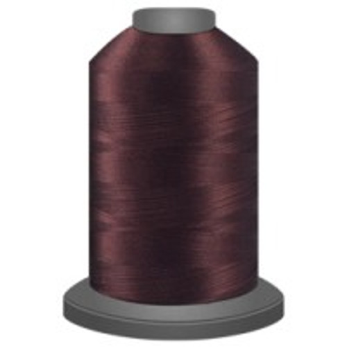 Bordeaux - Polyester - Thread - Trilobal - Glide - 40 wt This thread is strong and maintains consistent tension.  This results in less thread breakage, consistent stitch formation, resulting in fewer machine stops.  Made from colorfast polyester. Complete and uniform fill, provides a beautiful look, as if the thread melts into the fabric. Glide runs virtually lint free through your machine's tensioners and needle. Mini Spool - 40 wt - 1100 yds King Spool - 40 wt - 5500 yds Available in 269 colors.