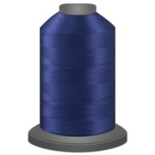 Blueberry - Polyester - Thread - Trilobal - Glide - 40 wt This thread is strong and maintains consistent tension.  This results in less thread breakage, consistent stitch formation, resulting in fewer machine stops.  Made from colorfast polyester. Complete and uniform fill, provides a beautiful look, as if the thread melts into the fabric. Glide runs virtually lint free through your machine's tensioners and needle. Mini Spool - 40 wt - 1100 yds King Spool - 40 wt - 5500 yds Available in 269 colors.