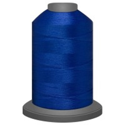 Blue Jay - Polyester - Thread - Trilobal - Glide - 40 wt This thread is strong and maintains consistent tension.  This results in less thread breakage, consistent stitch formation, resulting in fewer machine stops.  Made from colorfast polyester. Complete and uniform fill, provides a beautiful look, as if the thread melts into the fabric. Glide runs virtually lint free through your machine's tensioners and needle. Mini Spool - 40 wt - 1100 yds King Spool - 40 wt - 5500 yds Available in 269 colors.