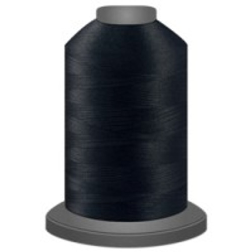 Black - Polyester - Thread - Trilobal - Glide - 40 wt This thread is strong and maintains consistent tension.  This results in less thread breakage, consistent stitch formation, resulting in fewer machine stops.  Made from colorfast polyester. Complete and uniform fill, provides a beautiful look, as if the thread melts into the fabric. Glide runs virtually lint free through your machine's tensioners and needle. Mini Spool - 40 wt - 1100 yds King Spool - 40 wt - 5500 yds Available in 269 colors.