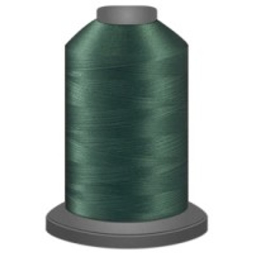 Basil - Polyester - Thread - Trilobal - Glide - 40 wt This thread is strong and maintains consistent tension.  This results in less thread breakage, consistent stitch formation, resulting in fewer machine stops.  Made from colorfast polyester. Complete and uniform fill, provides a beautiful look, as if the thread melts into the fabric. Glide runs virtually lint free through your machine's tensioners and needle. Mini Spool - 40 wt - 1100 yds King Spool - 40 wt - 5500 yds Available in 269 colors.