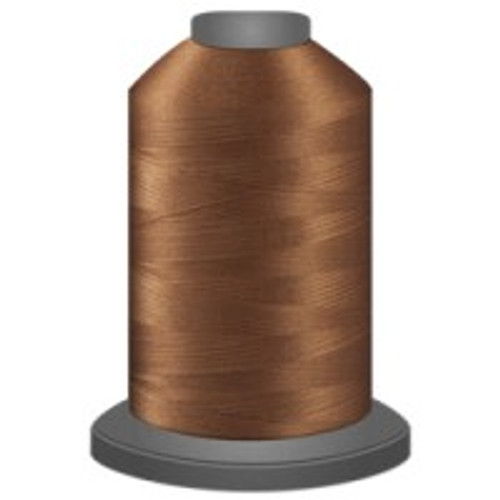 Bark - Polyester - Thread - Trilobal - Glide - 40 wt This thread is strong and maintains consistent tension.  This results in less thread breakage, consistent stitch formation, resulting in fewer machine stops.  Made from colorfast polyester. Complete and uniform fill, provides a beautiful look, as if the thread melts into the fabric. Glide runs virtually lint free through your machine's tensioners and needle. Mini Spool - 40 wt - 1100 yds King Spool - 40 wt - 5500 yds Available in 269 colors.