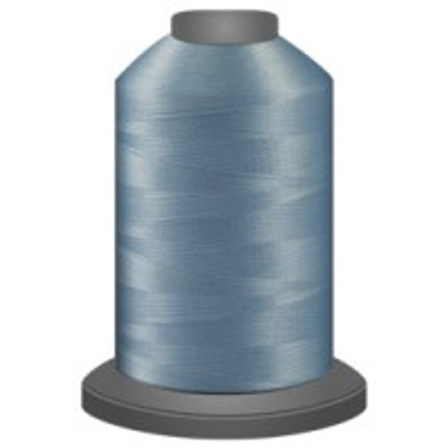 Baby Blue - Polyester - Thread - Trilobal - Glide - 40 wt This thread is strong and maintains consistent tension.  This results in less thread breakage, consistent stitch formation, resulting in fewer machine stops.  Made from colorfast polyester. Complete and uniform fill, provides a beautiful look, as if the thread melts into the fabric. Glide runs virtually lint free through your machine's tensioners and needle. Mini Spool - 40 wt - 1100 yds King Spool - 40 wt - 5500 yds Available in 269 colors.