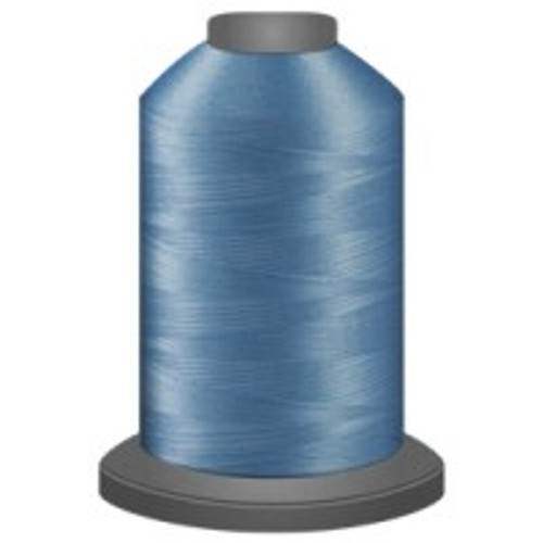 Azure - Polyester - Thread - Trilobal - Glide - 40 wt This thread is strong and maintains consistent tension.  This results in less thread breakage, consistent stitch formation, resulting in fewer machine stops.  Made from colorfast polyester. Complete and uniform fill, provides a beautiful look, as if the thread melts into the fabric. Glide runs virtually lint free through your machine's tensioners and needle. Mini Spool - 40 wt - 1100 yds King Spool - 40 wt - 5500 yds Available in 269 colors.