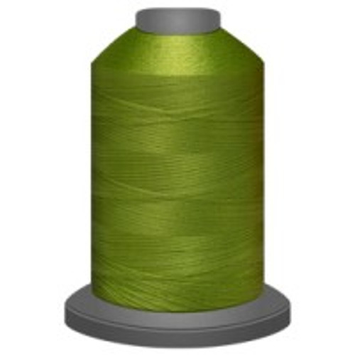 Avocado - Polyester - Thread - Trilobal - Glide - 40 wt This thread is strong and maintains consistent tension.  This results in less thread breakage, consistent stitch formation, resulting in fewer machine stops.  Made from colorfast polyester. Complete and uniform fill, provides a beautiful look, as if the thread melts into the fabric. Glide runs virtually lint free through your machine's tensioners and needle. Mini Spool - 40 wt - 1100 yds King Spool - 40 wt - 5500 yds Available in 269 colors.