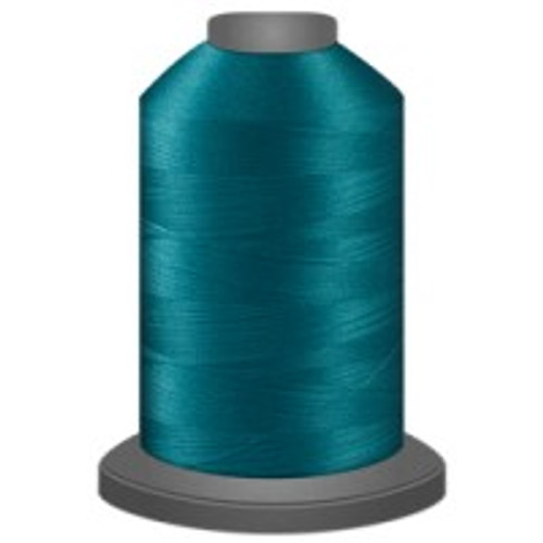 Aquamarine - Polyester - Thread - Trilobal - Glide - 40 wt This thread is strong and maintains consistent tension.  This results in less thread breakage, consistent stitch formation, resulting in fewer machine stops.  Made from colorfast polyester. Complete and uniform fill, provides a beautiful look, as if the thread melts into the fabric. Glide runs virtually lint free through your machine's tensioners and needle. Mini Spool - 40 wt - 1100 yds King Spool - 40 wt - 5500 yds Available in 269 colors.