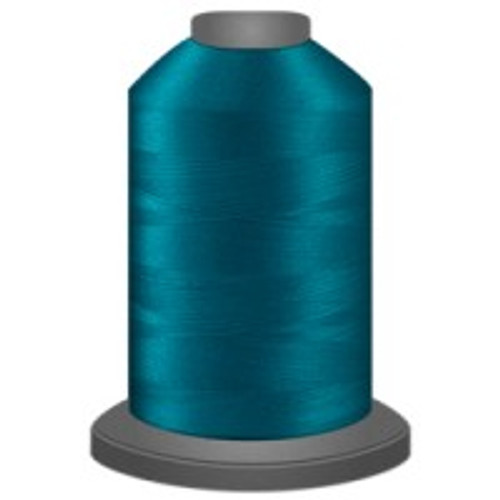 Aqua - Polyester - Thread - Trilobal - Glide - 40 wt This thread is strong and maintains consistent tension.  This results in less thread breakage, consistent stitch formation, resulting in fewer machine stops.  Made from colorfast polyester. Complete and uniform fill, provides a beautiful look, as if the thread melts into the fabric. Glide runs virtually lint free through your machine's tensioners and needle. Mini Spool - 40 wt - 1100 yds King Spool - 40 wt - 5500 yds Available in 269 colors.