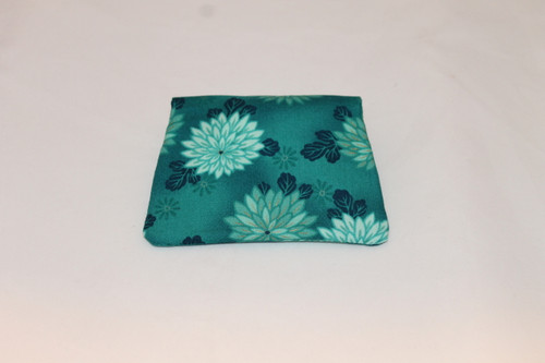 Credit Card / ID Wallet - Teal Flowers 13