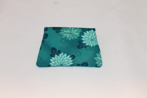 Credit Card / ID Wallet - Teal Flowers 14