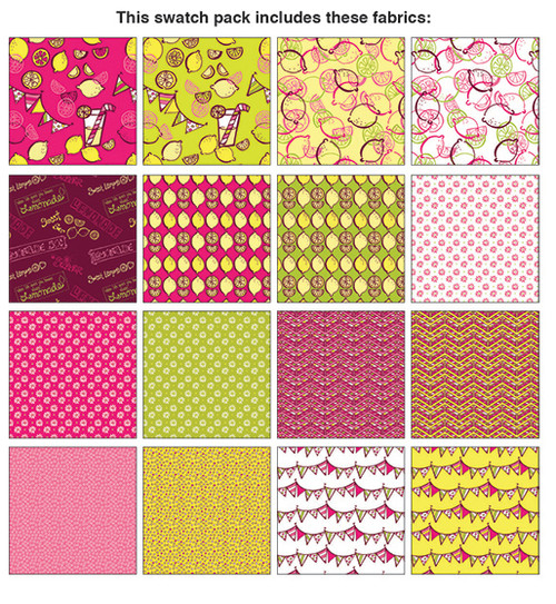 "Lemon Squeezy - Pinwheel - 2.5"" Strips - 40 pieces - Cotton - Benartex"