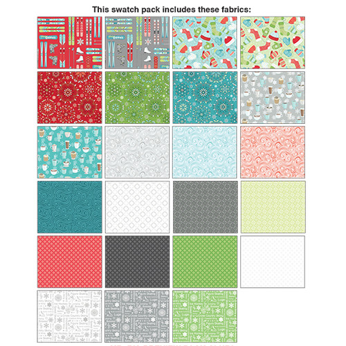 "Winter Games - Layer Cake - 10"" - 42 pieces - Cotton - Contempo - Benartex"