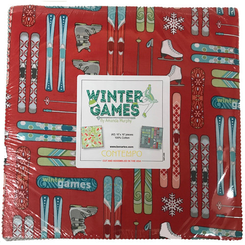 "Winter Games - Layer Cake - 10"" - 42 pieces - Cotton - Benartex"