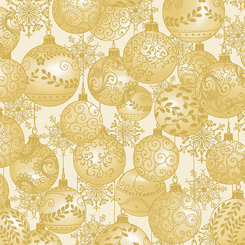 Hanging Ornaments - Cream - Fabric - Benartex