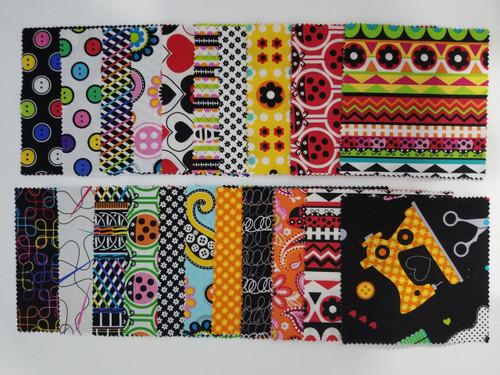 """Novelty Charm Pack - 5"""" Squares - 42 pieces - Cotton - Benartex"""