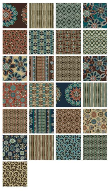 """Divine Twine - 5"""" Squares - 42 pieces - Cotton - Benartex"""