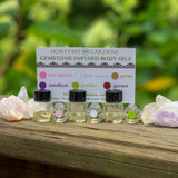 Honeybee Gardens Crystal Infused Body Oil Sample Pack