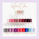 WaterColors Nail Enamels (photo depicts full assortment of colors)