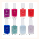 Honeybee Gardens WaterColors Nail Enamel Color Chart