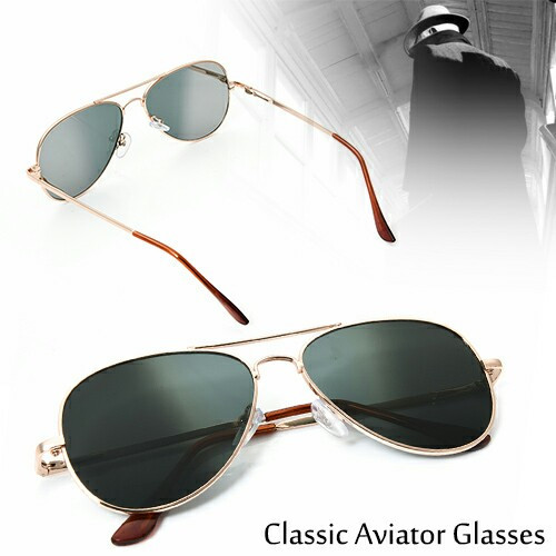 32c375d18f Rearview Aviator Glasses (Unisex) - International Spy Museum Store