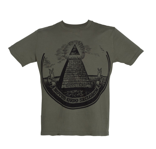 Green Dollar Bill Pyramid Tee