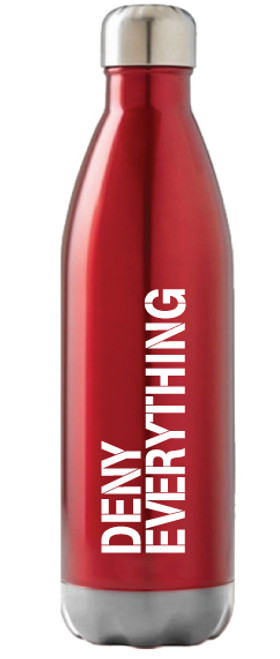 Deny Everything Red Swell Bottle
