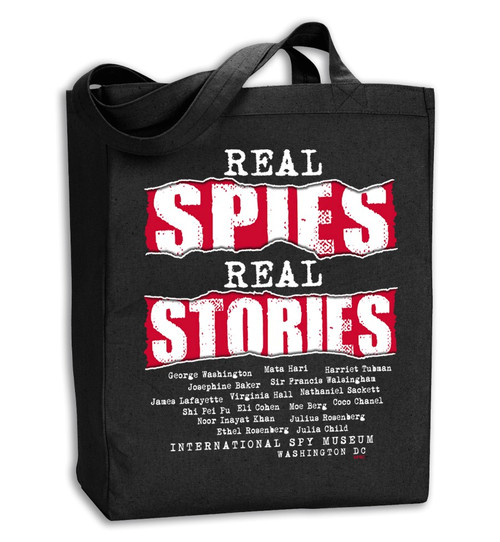 Real Spies Real Stories Tote Bag