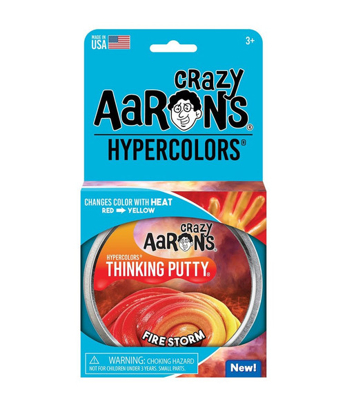 Crazy Aaron's Thinking Putty: Hypercolor Firestorm- Color Changing Putty