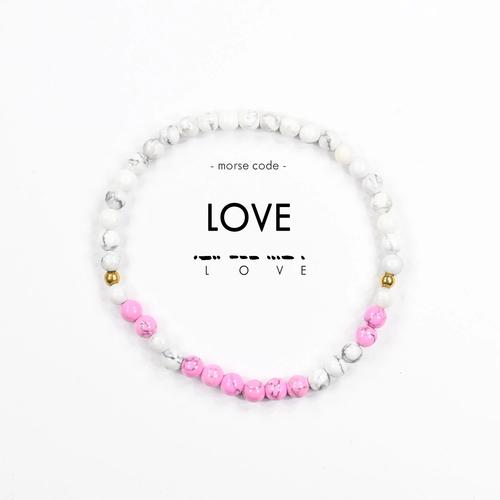Morse Code Bracelet Love