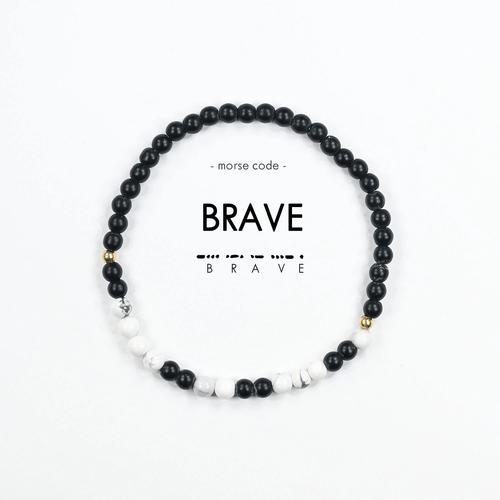 Morse Code Bracelet Brave