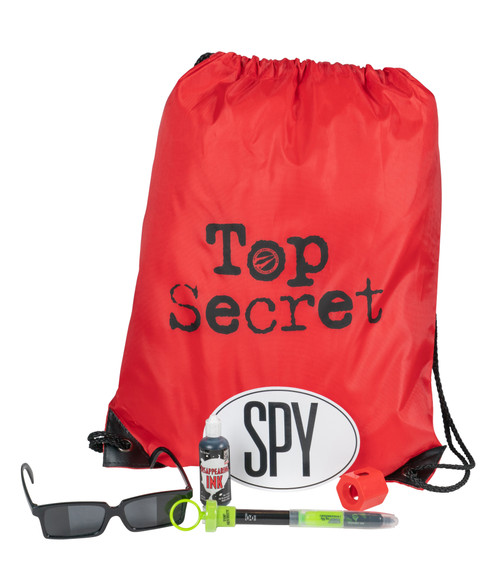 Oh Goodie! All the Spy FUN you can grab in a single bag! Our NEW party favor bag includes six of our best selling favors: Invisible Ink, Right Angle Viewer, Spy Sticker, Decoder Spy Pen, Rearview Glasses, and our Top Secret Nylon bag to carry it all home. Our exclusive goodie bag is party perfect for kids, adults, and all spy occasions - - Birthday, Themed Parties (Bond, Top Secret, Undercover), Spy Science & More!