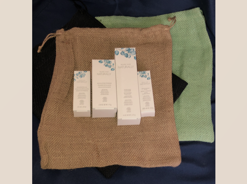 These natural burlap bags are perfect for your natural products.
