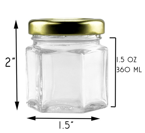 Jars - Mini Hexagon /24 jars
