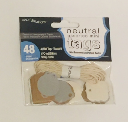 Mini Tags - Assorted neutral (48pcs)