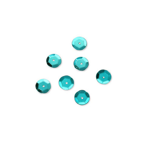 Sequin - Cup - Turquoise Peacock Blue - 8mm - 200 Pieces