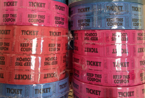 Raffle Tickets - Double Roll (Assorted Colors)