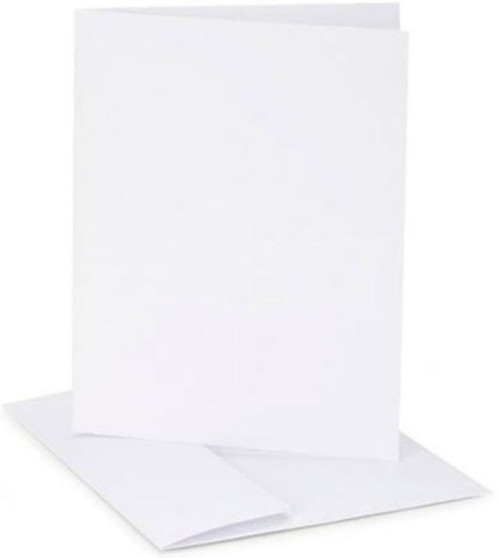 Blank Pearl White Cards with Envelopes: A7 size / 25 sets