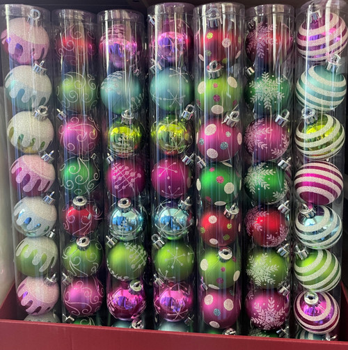 These plastic ornaments are fun and festive and add a bit of fun to any package.
