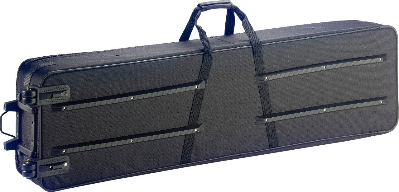 Stagg Lightweight soft case for 76 Key keyboard, with wheels & handle