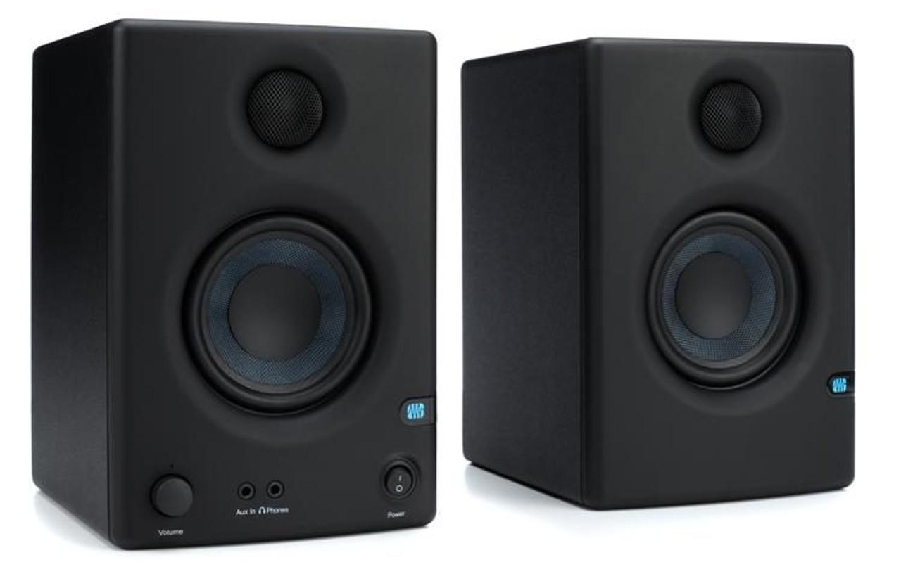 "PreSonus Eris E3.5 3.5"" Powered Studio Monitors 3.5"" Powered Studio Monitor  with Kevlar Woofer, 1"" Silk-dome Tweeter, and 50W Class AB Amplification  (pair) - Musical Garage USA LLC"