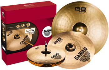 "Sabian B8Pro 4 Pack Box Set  with 14"" Hi-hats, 16""and 18"" Thin Crash and 20"" Medium Ride"