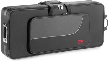 Stagg Lightweight soft case for 61 Key keyboard, with wheels & handle