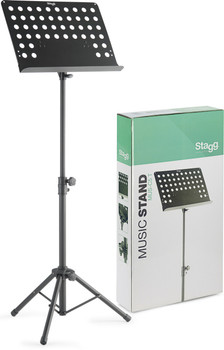 Stagg Basic orchestral music stand with metal music rest + Holes