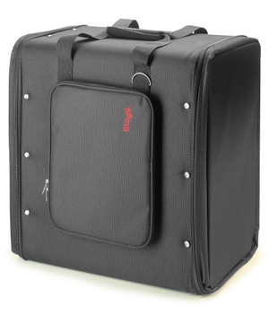 Stagg RB-6U Six Piece Rack Carrying Bag with Adjustable Carrying Strap - Black